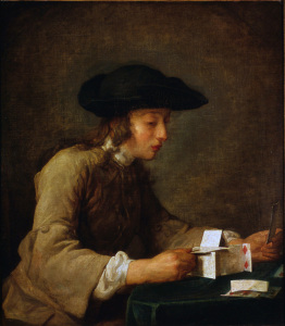 Picture no: 30007443 Chardin / The House of Cards / c. 1737 Created by: Chardin, Jean Siméon