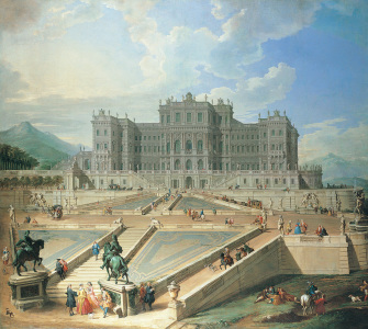 Picture no: 30008343 Rivoli, Castle / Paint.by Pannini / C18 Created by: Pannini, Giovanni Paolo