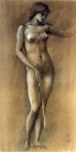 Picture no: 30009058 E.Burne-Jones / Life Drawing / Minerva Created by: Burne-Jones, Edward