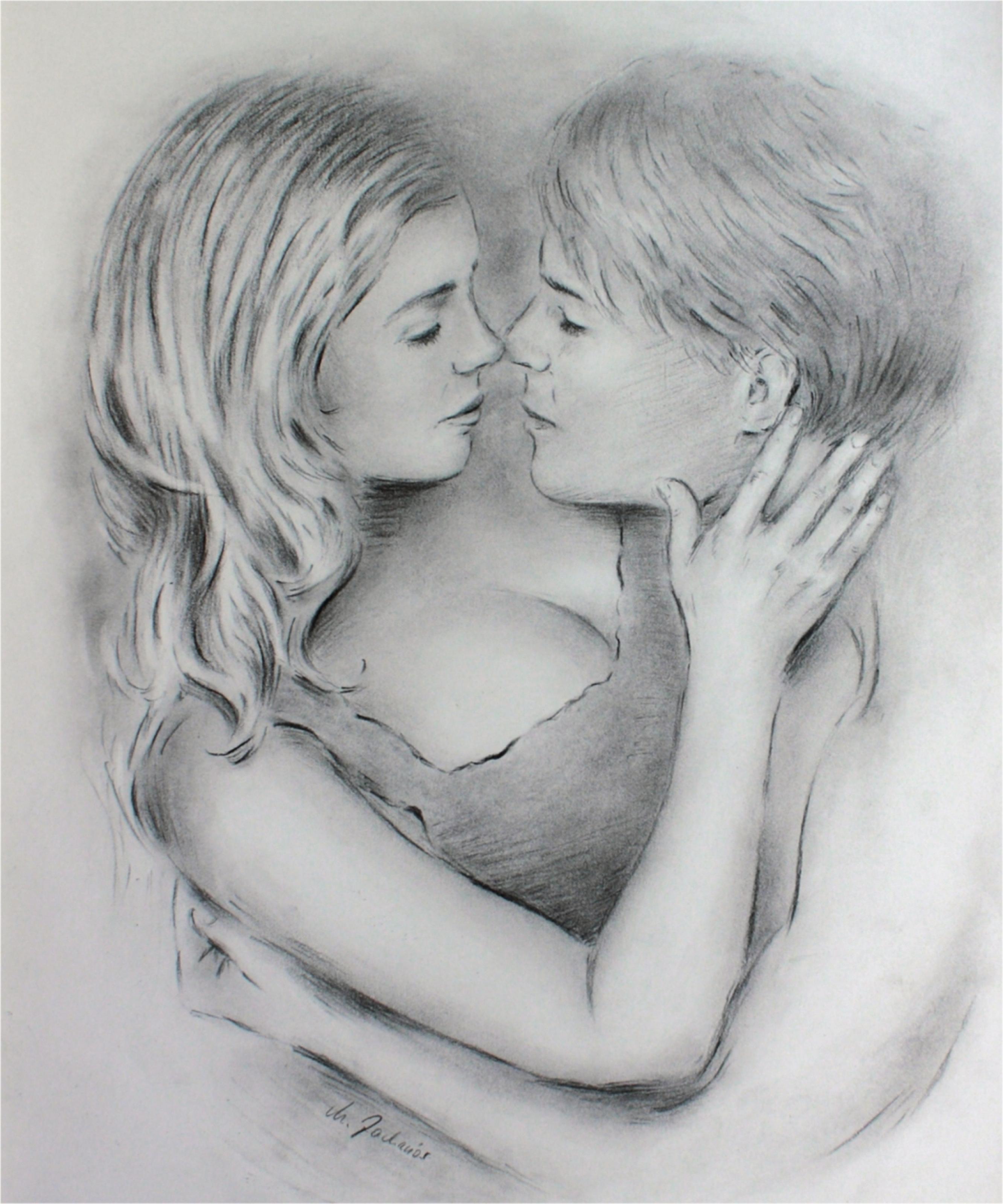 erotische paare zeichnung love