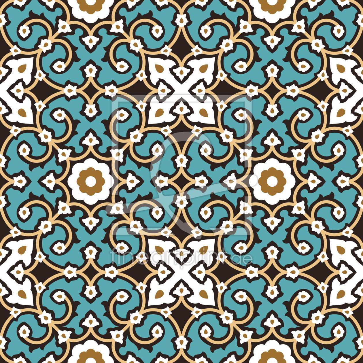 Maurische Fliesen als Tapete von patterndesigns-com e