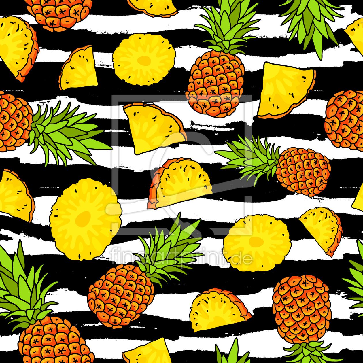 ananas und palmenbl tter als tapete von. Black Bedroom Furniture Sets. Home Design Ideas