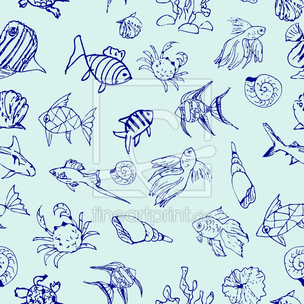 wirbel muscheln als leinwand von patterndesigns com. Black Bedroom Furniture Sets. Home Design Ideas