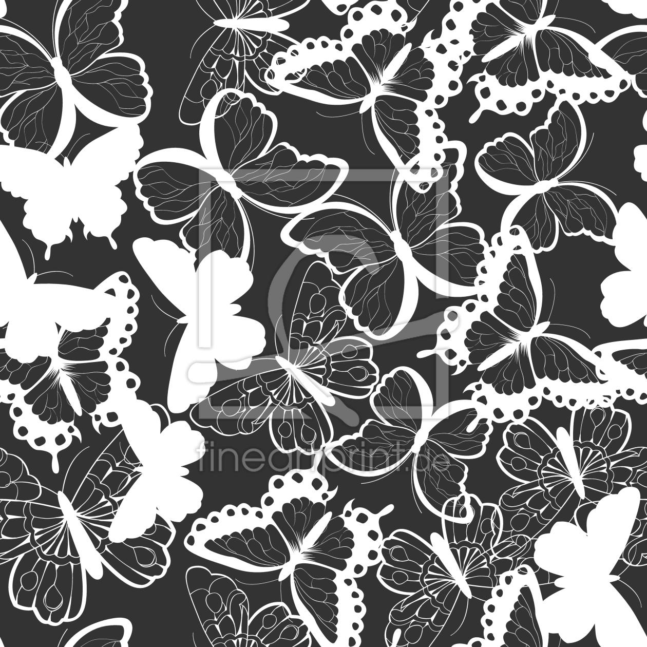 sch ne schmetterlinge als leinwand von patterndesign. Black Bedroom Furniture Sets. Home Design Ideas