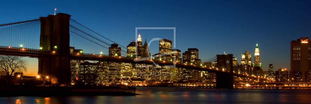 brooklyn bridge new york als leinwand von thomas st. Black Bedroom Furniture Sets. Home Design Ideas