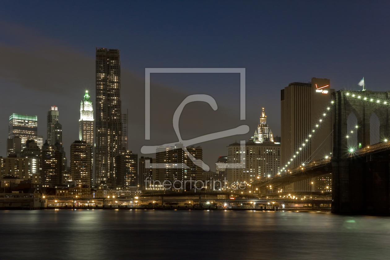 brooklyn bridge als leinwand von wame erh ltlich bei fi. Black Bedroom Furniture Sets. Home Design Ideas