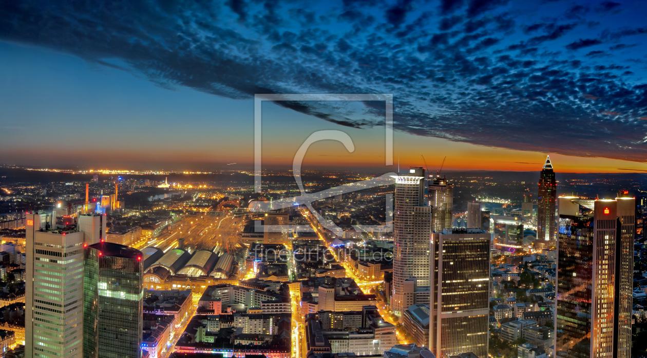 Panoramasicht vom Maintower Frankfurt Main als Tapete von