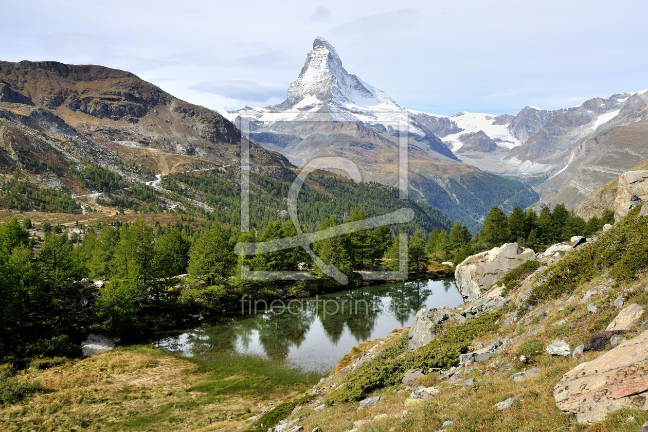 stellisee mit matterhorn als k chenspiegel von johafoto. Black Bedroom Furniture Sets. Home Design Ideas