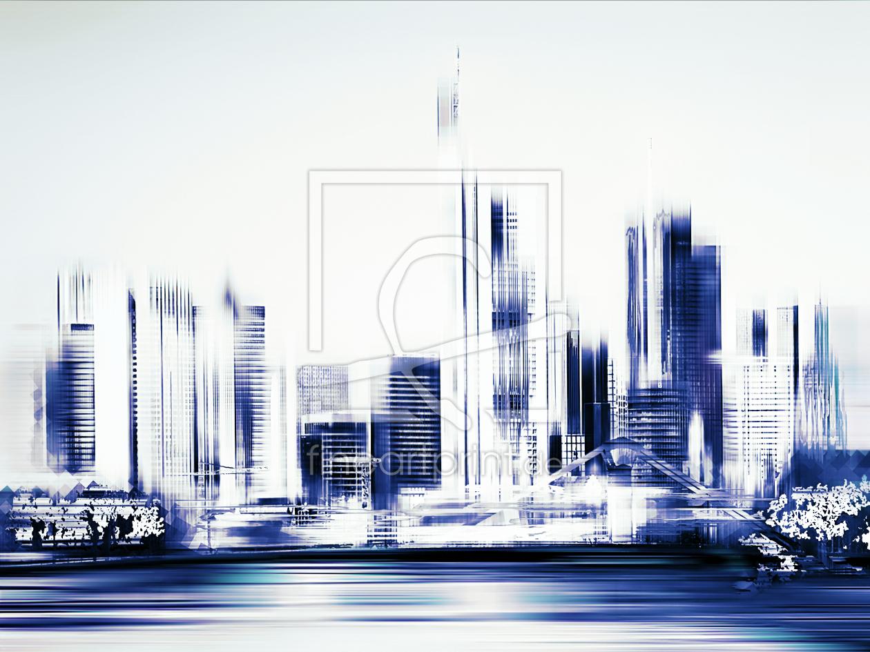D Printing Exhibition Frankfurt : Frankfurt main skyline als leinwand von fineartimages