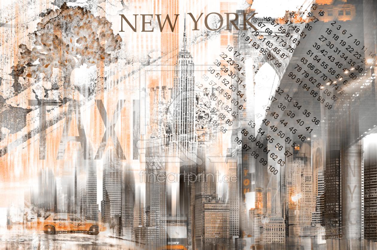 new york skyline abstrakt fraktal als leinwand von nett. Black Bedroom Furniture Sets. Home Design Ideas