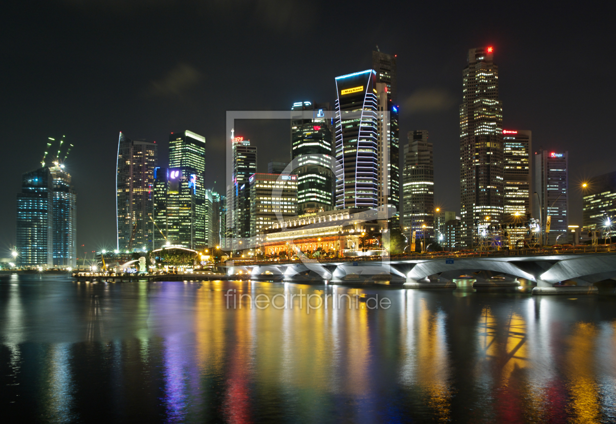 singapore skyline als k chenspiegel von prieni erh ltli. Black Bedroom Furniture Sets. Home Design Ideas