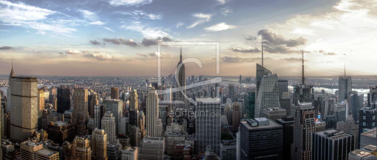 new york skyline als leinwand von licht werk erh. Black Bedroom Furniture Sets. Home Design Ideas