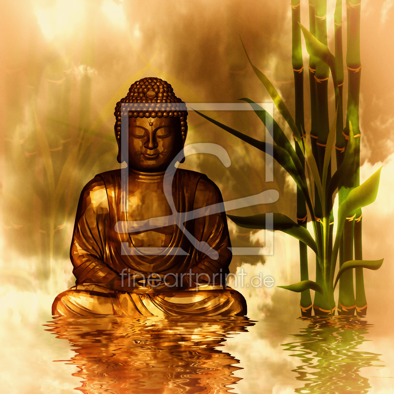 buddha als leinwand von dagmarmarina erh ltlich bei fine. Black Bedroom Furniture Sets. Home Design Ideas