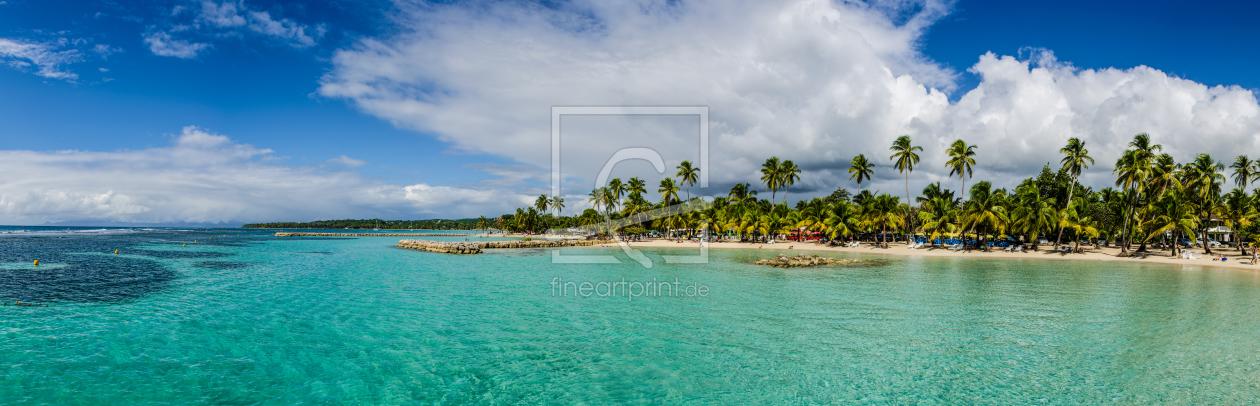 karibik strand panorama als leinwand von jean claud. Black Bedroom Furniture Sets. Home Design Ideas