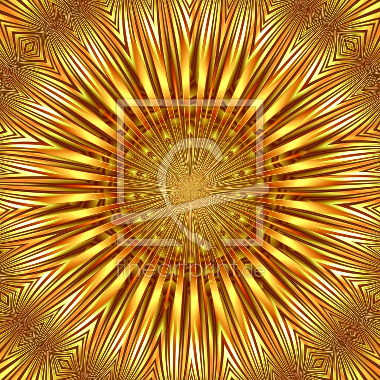 Mandala Grünes Licht als Fensterfolie von Atteloi erhältli