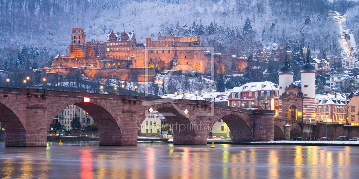 Heidelberg im Winter Fine Art als Leinwand von eyetronic