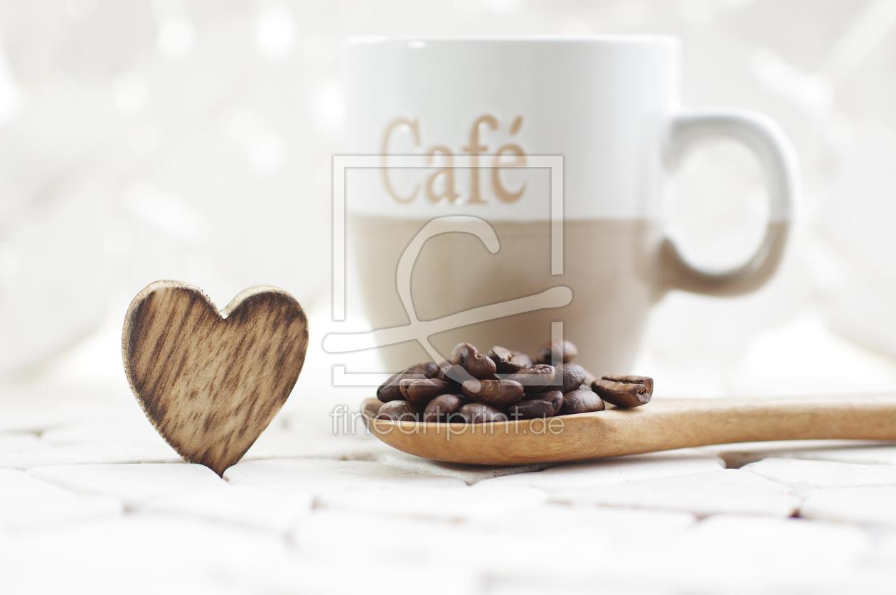 kaffee trauben genuss als leinwand von tanja riedel. Black Bedroom Furniture Sets. Home Design Ideas