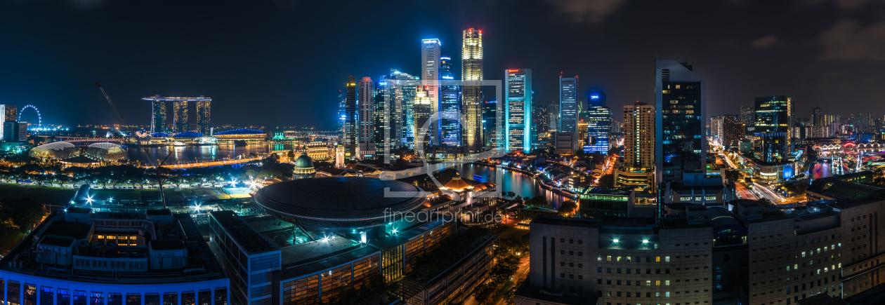 Singapur  Skyline Panorama als Tapete von Castor, Jean
