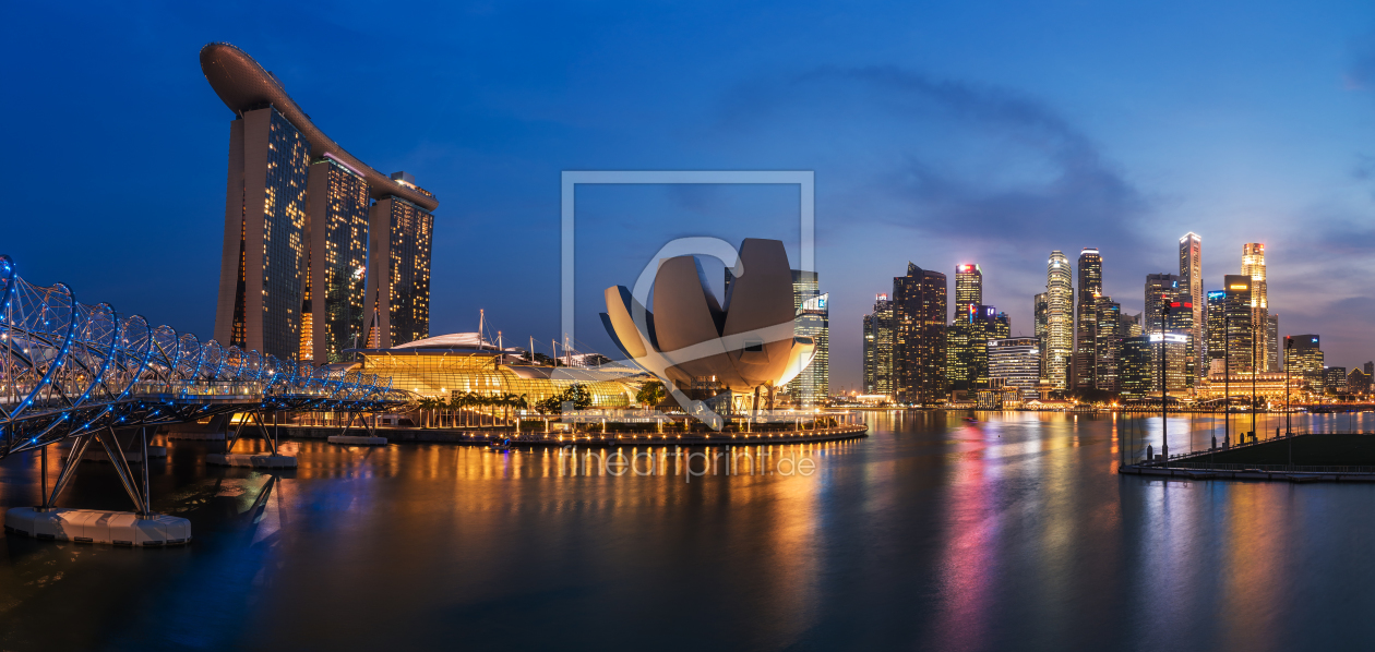 singapur skyline panorama als tapete von jean clau. Black Bedroom Furniture Sets. Home Design Ideas