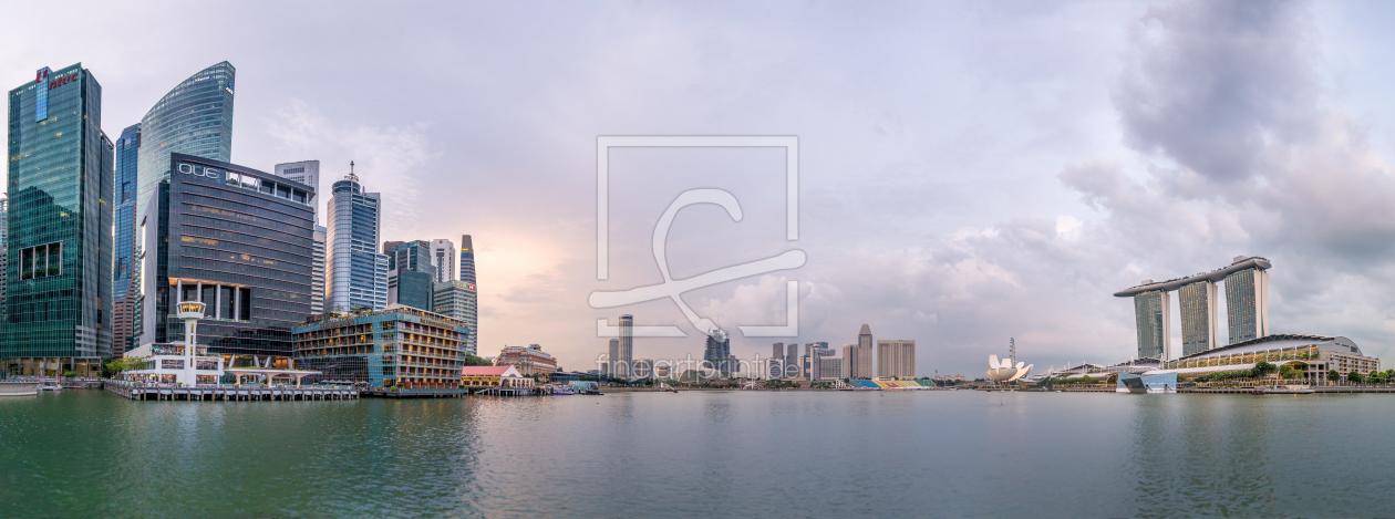 marina bay panorama singapur als leinwand von bart. Black Bedroom Furniture Sets. Home Design Ideas