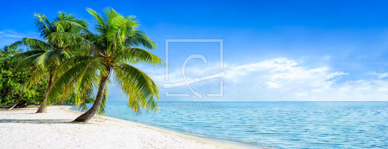 strand panorama in der karibik als fensterfolie von eye. Black Bedroom Furniture Sets. Home Design Ideas