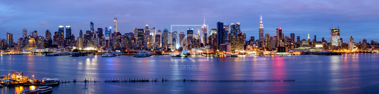 new york skyline panorama mit blick auf manhattan als. Black Bedroom Furniture Sets. Home Design Ideas