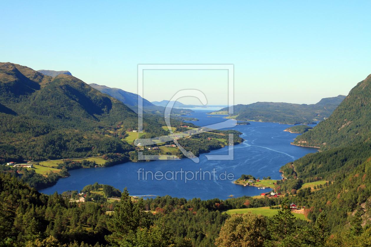Ein Fjord als AluDibond von Gerhard Albicker erhältlich