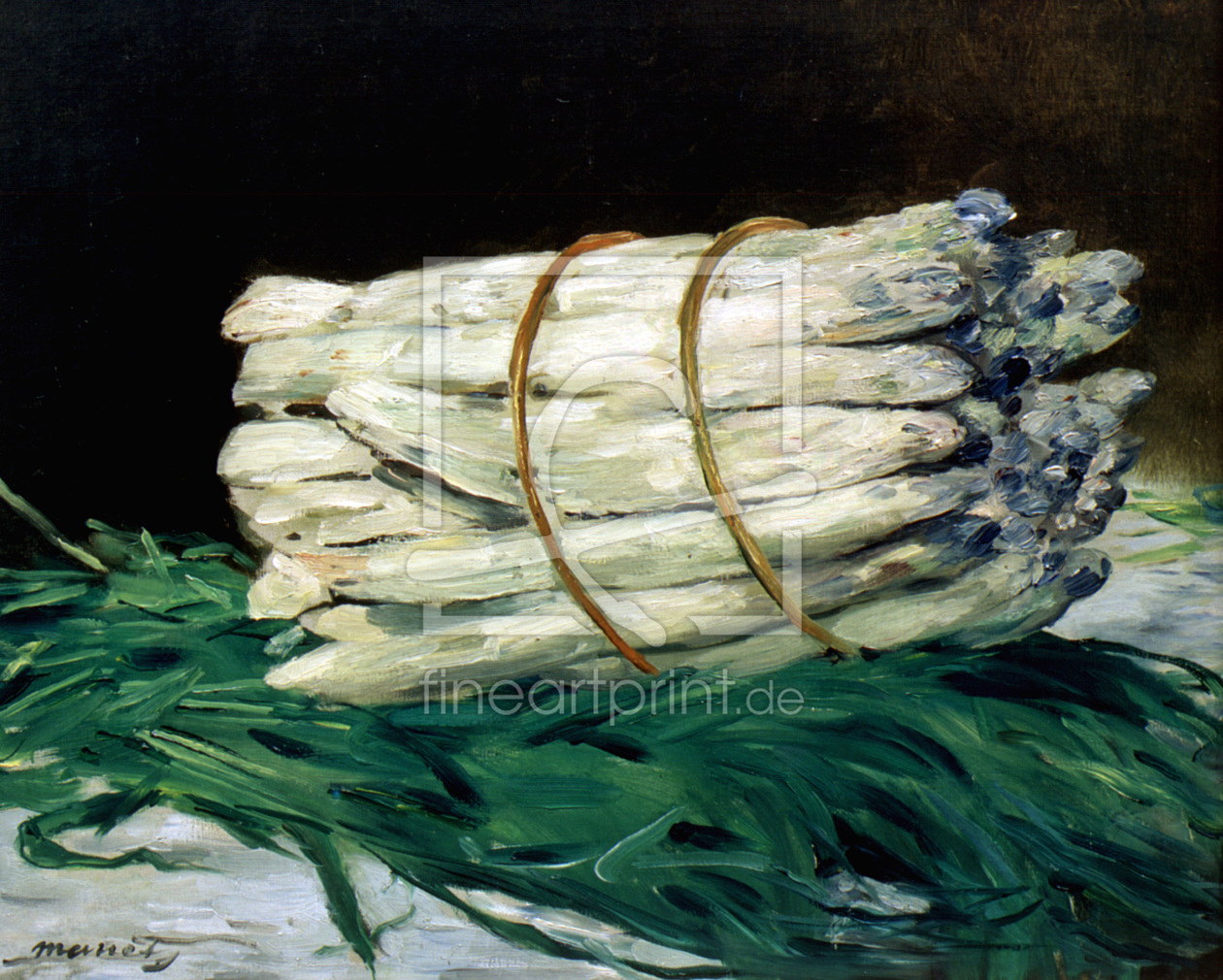 manet asparagus still life 1880 als k chenspiegel von. Black Bedroom Furniture Sets. Home Design Ideas