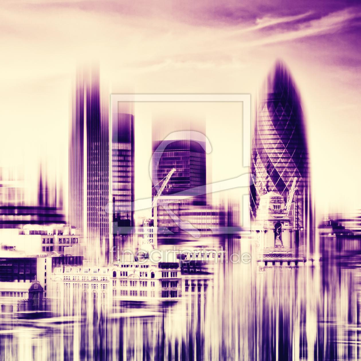 london skyline als leinwand von frank w chter erh ltli. Black Bedroom Furniture Sets. Home Design Ideas