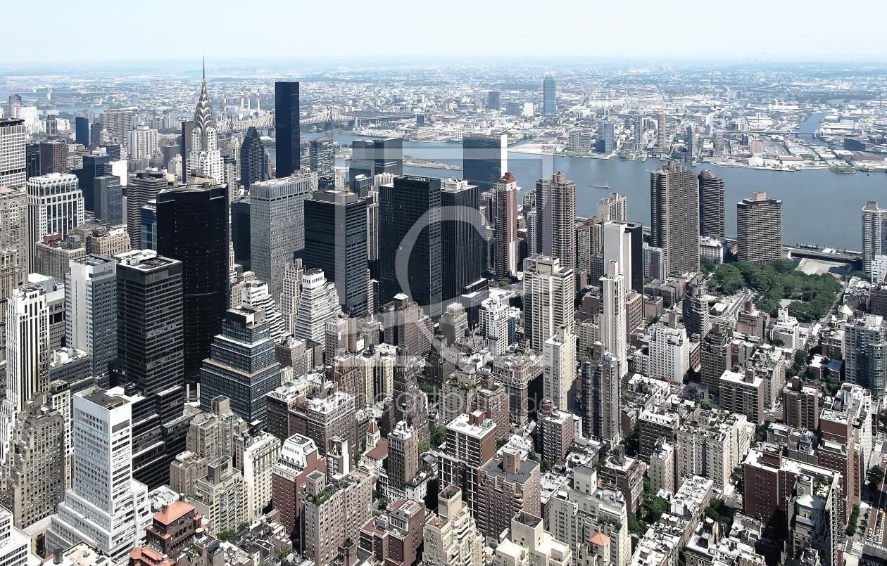 new york skyline manhattan als leinwand von. Black Bedroom Furniture Sets. Home Design Ideas