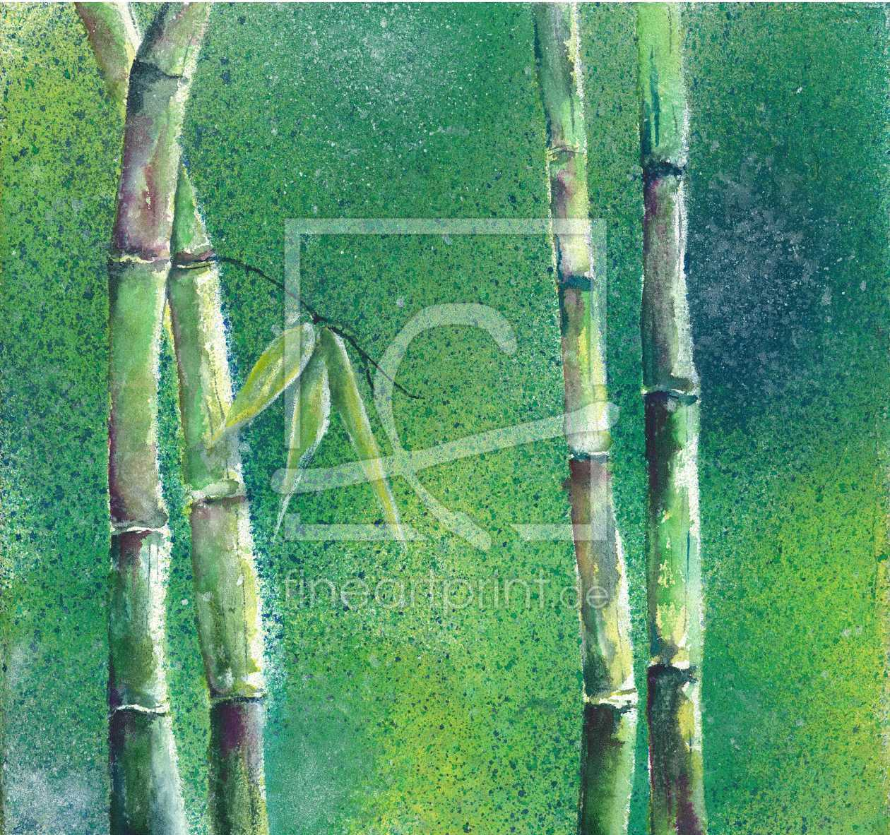 Grüner Bambus als Leinwand von JitkaKrause erhältlich bei Fine ...