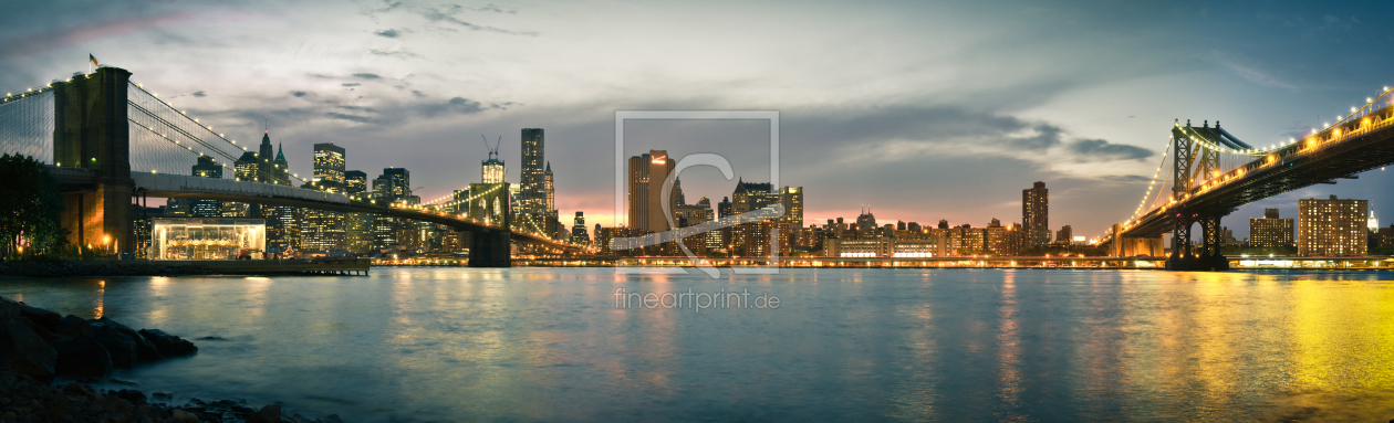 Bild-Nr.: 10357775 New York City - Brooklyn Bridge and Manhattan Bridge Panorama erstellt von Thomas Richter