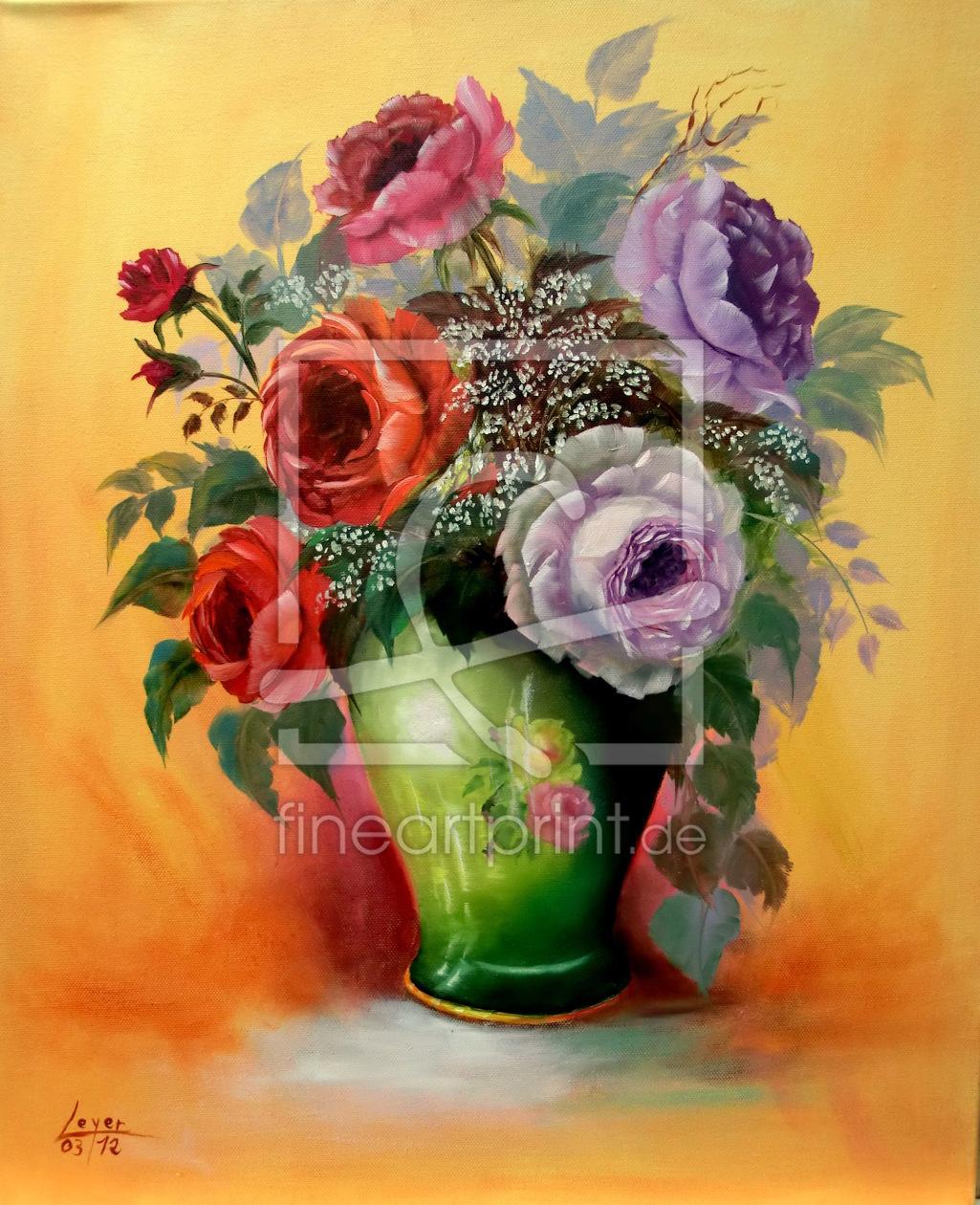 rosen in vase als t rfolie von galerieleyer erh ltlich b. Black Bedroom Furniture Sets. Home Design Ideas