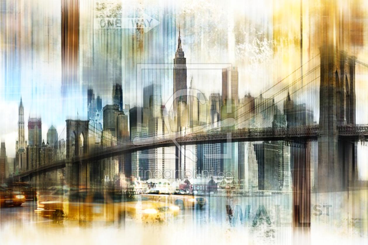 new york skyline abstrakt fraktal als leinwanddruck 10. Black Bedroom Furniture Sets. Home Design Ideas