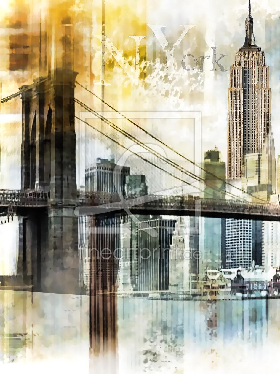 new york skyline als leinwand von nettesart erh ltlich. Black Bedroom Furniture Sets. Home Design Ideas
