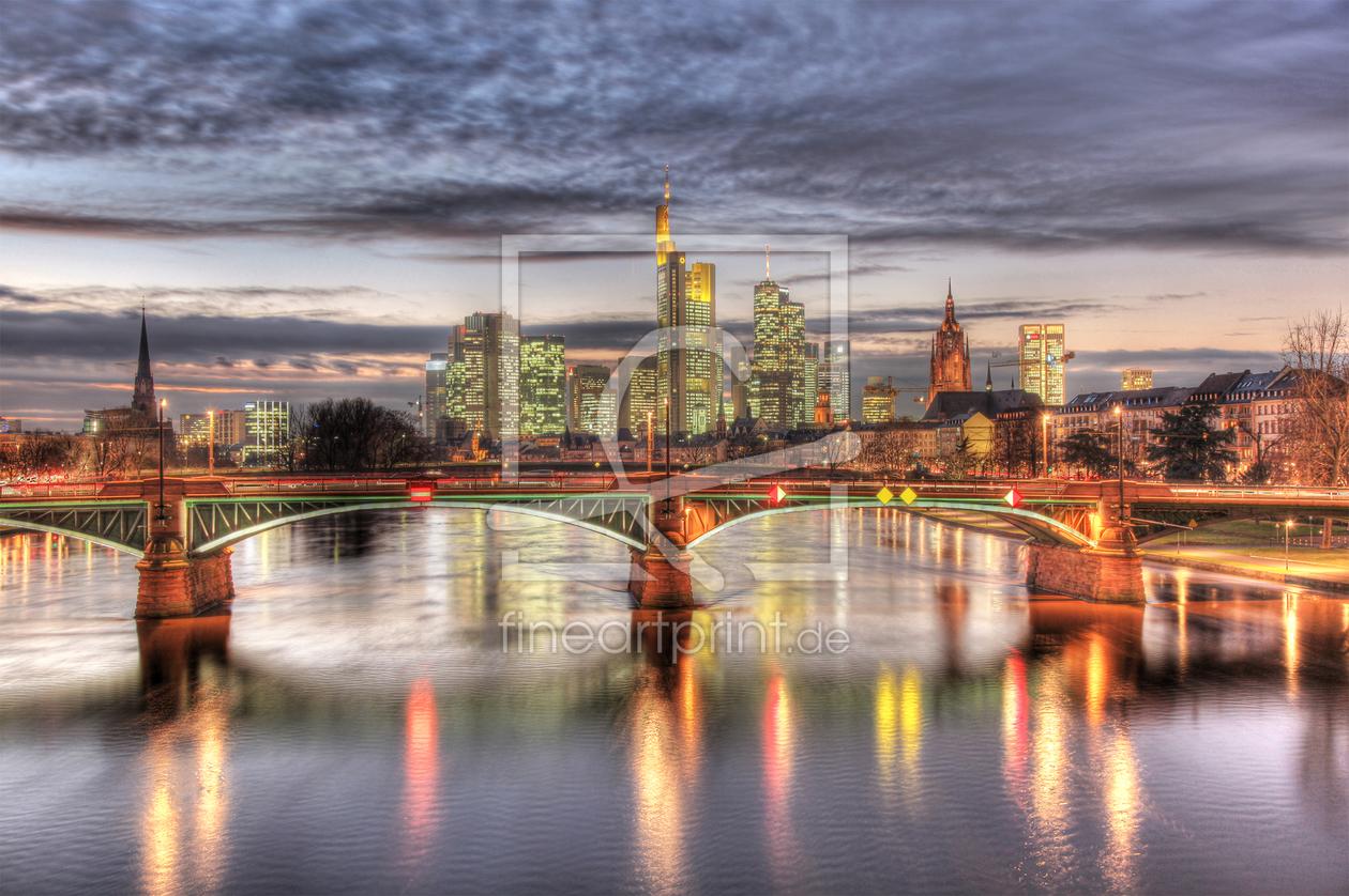 skyline frankfurt am main als leinwand von photoart m. Black Bedroom Furniture Sets. Home Design Ideas