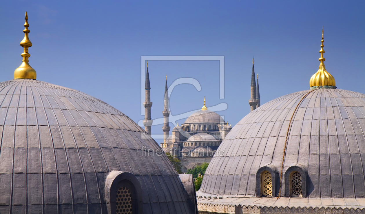 Bild-Nr.: 10784877 Blue mosque with Domes of the Hagia Sophia erstellt von Circumnavigation