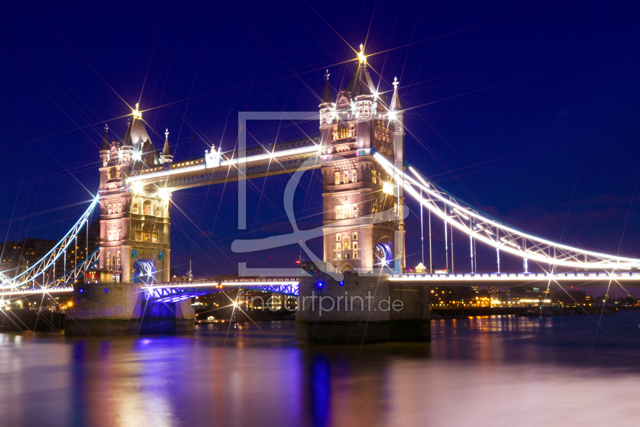 london tower bridge als leinwand von melanie viola. Black Bedroom Furniture Sets. Home Design Ideas