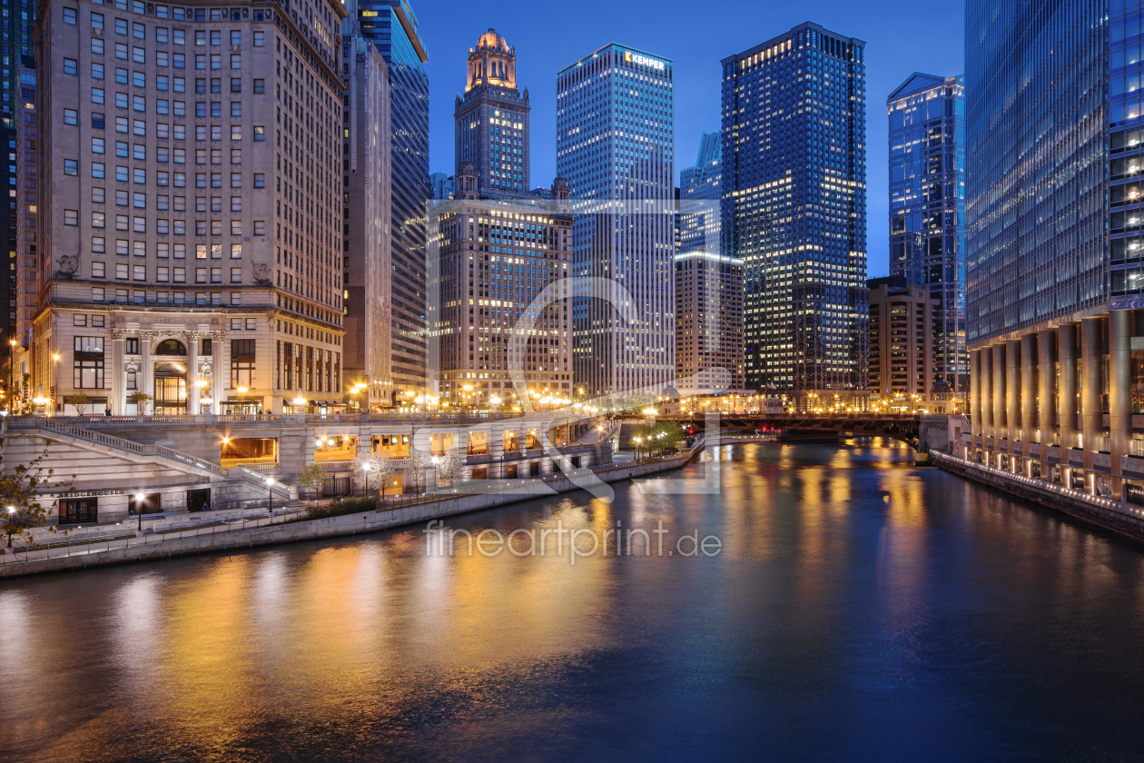 Bild-Nr.: 10955923 Chicago River - Night Lights erstellt von ph4n7oM