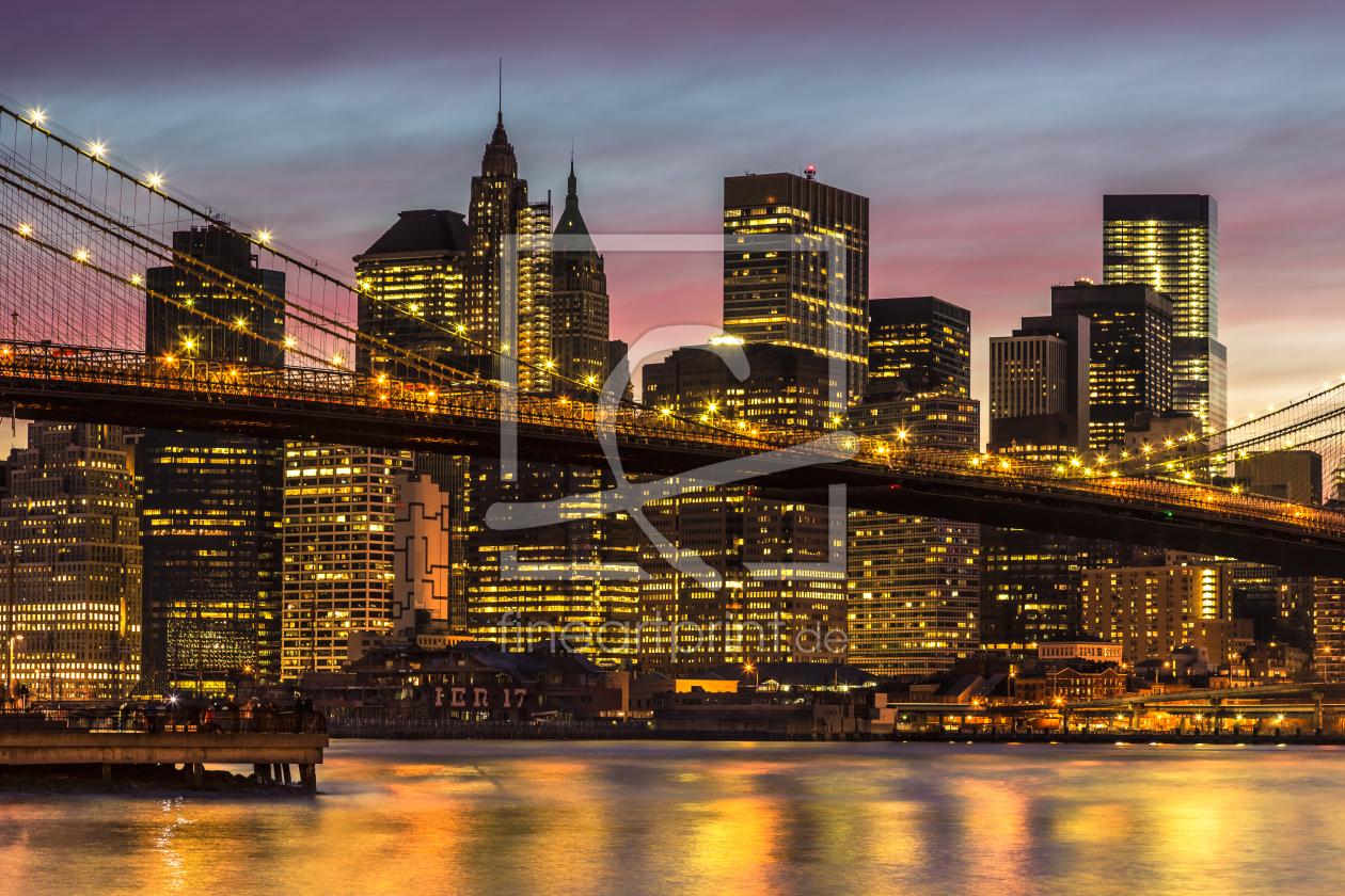 new york city 14 brooklyn bridge als leinwand vo. Black Bedroom Furniture Sets. Home Design Ideas