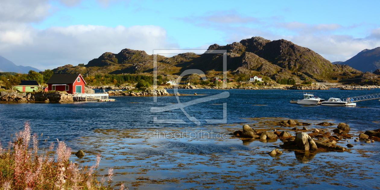 Wohnen am Fjord als Tragetasche von GUGIGEI erhältlich bei