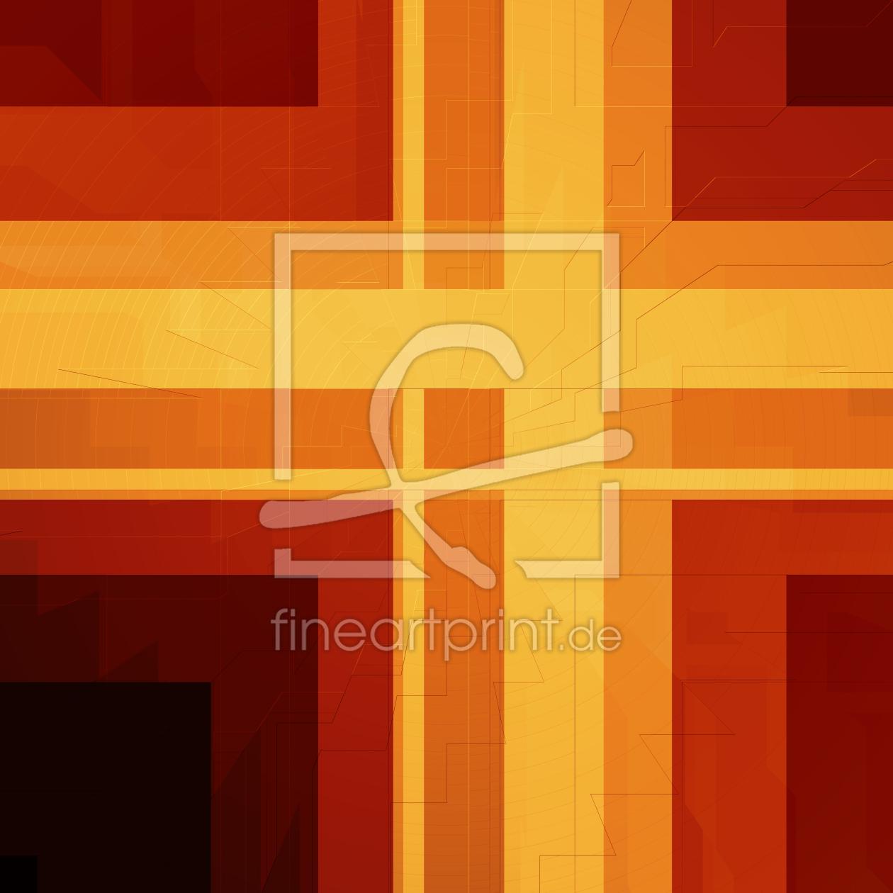 muster abstrakt orange nr 2 als k chenspiegel von chr. Black Bedroom Furniture Sets. Home Design Ideas