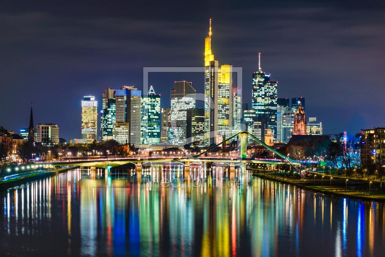 skyline von frankfurt als tischaufsteller von mapics erh. Black Bedroom Furniture Sets. Home Design Ideas