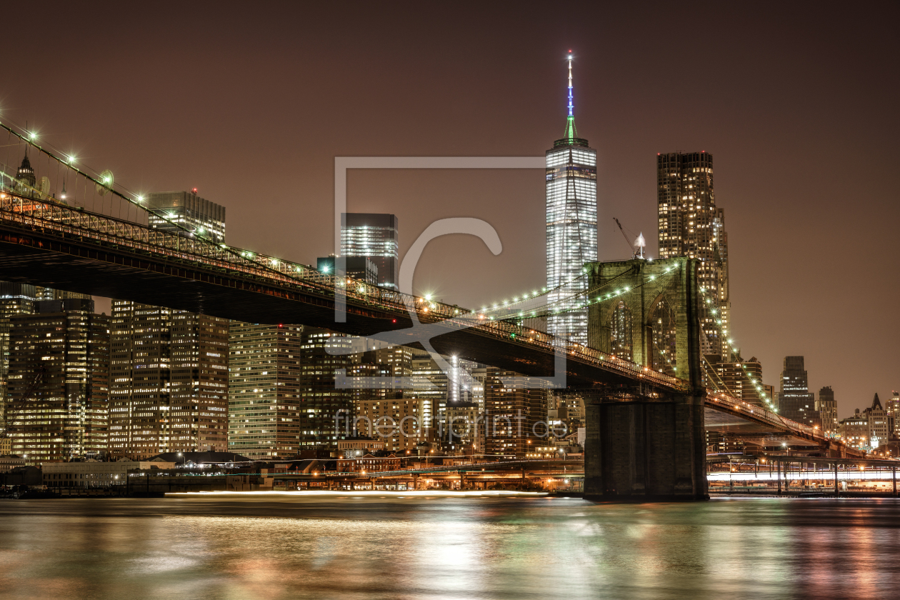 brooklyn bridge als leinwand von daniel heine erh ltlic. Black Bedroom Furniture Sets. Home Design Ideas