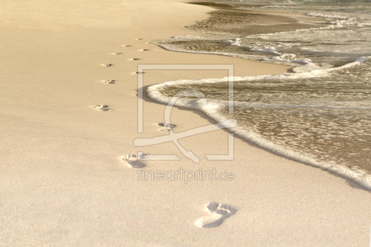Bild-Nr.: 11791292 Footprints at the beach erstellt von kb-photodesign