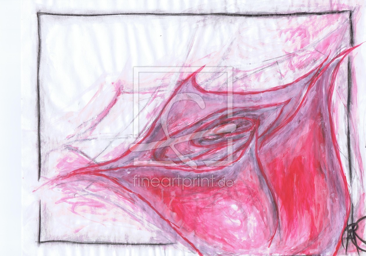 Bild-Nr.: 11887987 Painting of a RED ROSE - abstract - watercolors erstellt von krf132a