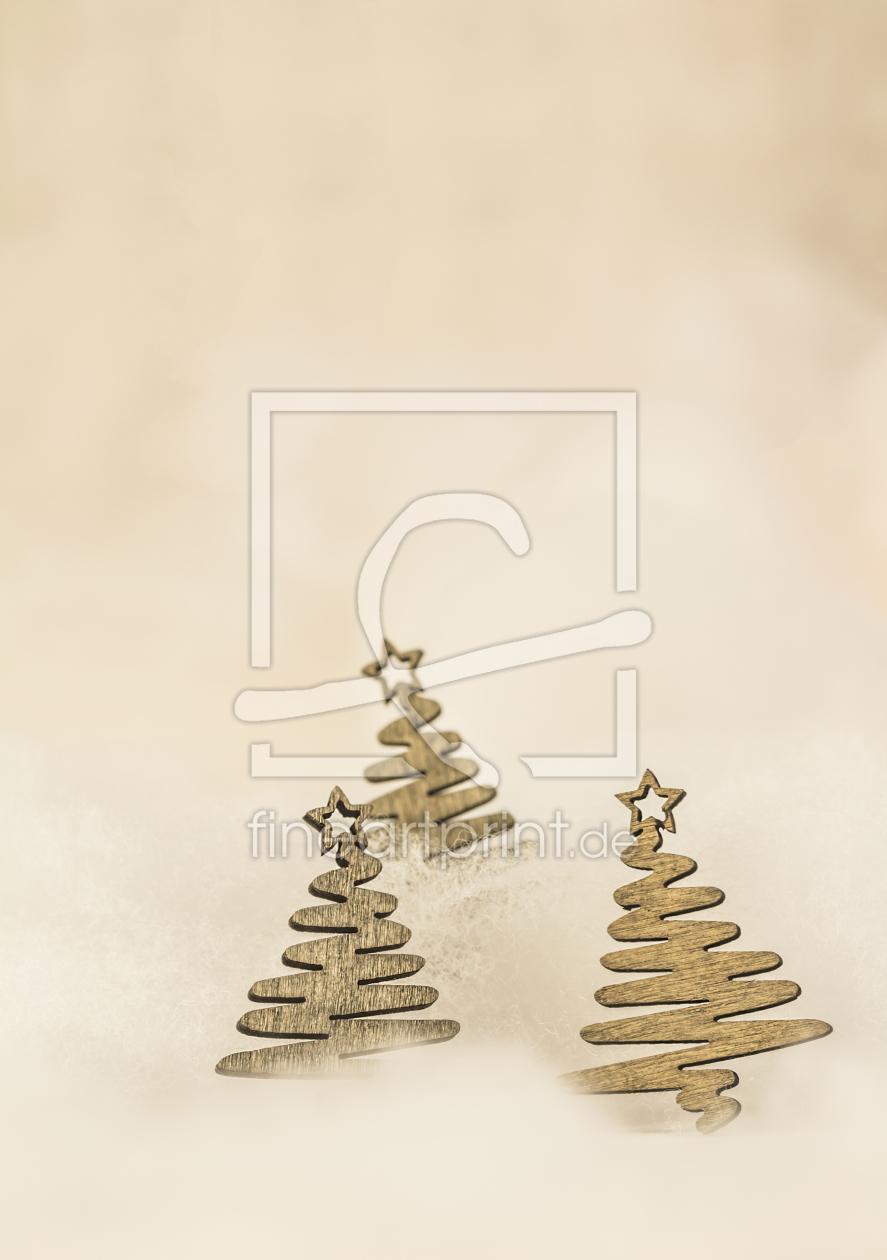 weihnachtsb ume aus holz weihnachtskarte als post. Black Bedroom Furniture Sets. Home Design Ideas