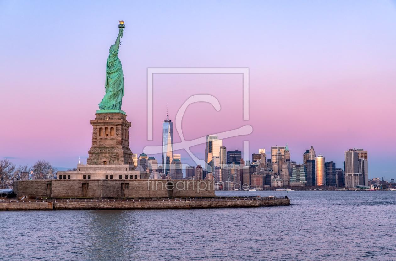 new york skyline als leinwand von achim thomae erh. Black Bedroom Furniture Sets. Home Design Ideas