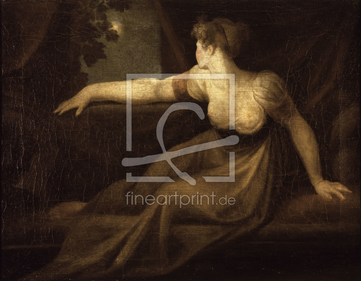 Bild-Nr.: 30000502 Fuseli / Lady at the Window, Moonlight erstellt von Füssli, Johann Heinrich d.J.
