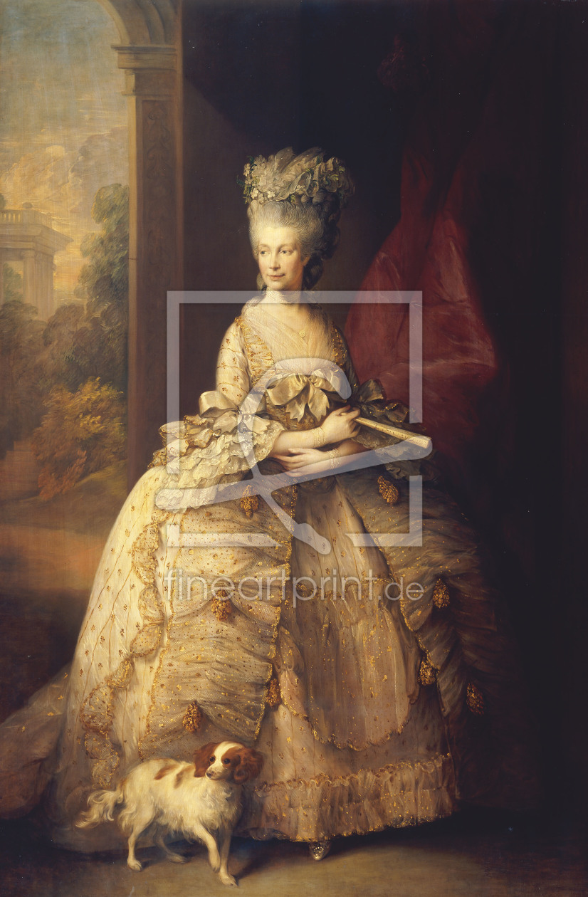 Bild-Nr.: 30000678 Queen Charlotte of England /Gainsborough erstellt von Gainsborough, Thomas